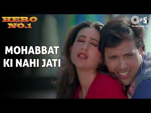 Mohabbat Ki Nahi Jati - Hero No. 1 | Govinda & Karisma Kapoor | Udit Narayan & Sadhana Sargam