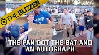 Puig trades young fan a bat for pushups by @The Buzzer