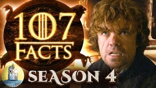 It's time for another 107 facts about Game of Thrones, and this time we're journeying deep into Season 4. Find out everything ...