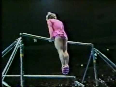 When a man does women's gymnastics