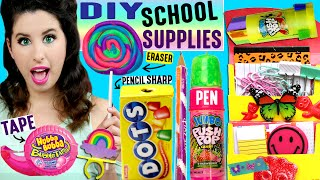 DIY Candy School Supplies | Push Pop Pen, Ring Pop Eraser, Hubba Bubba Tape, Skittles Push Pins! by GlitterForever17