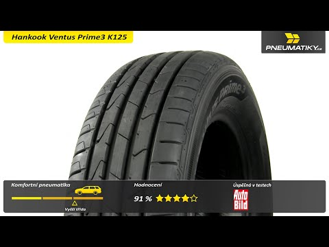 Youtube Hankook Ventus Prime3 K125 225/55 R17 101 W XL Letní