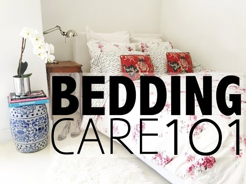 Bedding Care 101  |  How To Wash A Duvet, Pillows, Fold A Fitted Sheet...