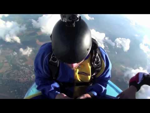 Solving the Rubiks Cube while skydiving