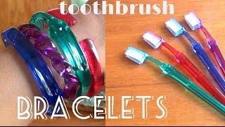DIY Fashion ♥ Toothbrush Bracelets - YouTube