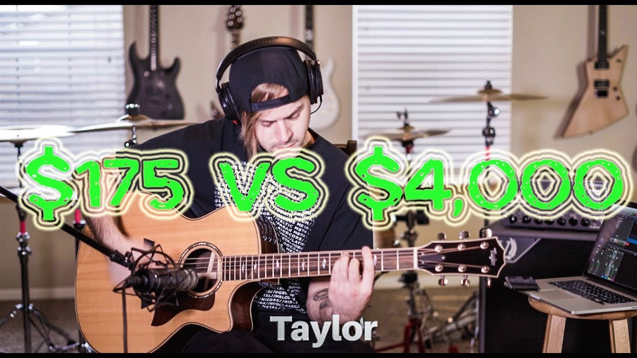 $175 VS $4,000 acoustic guitar