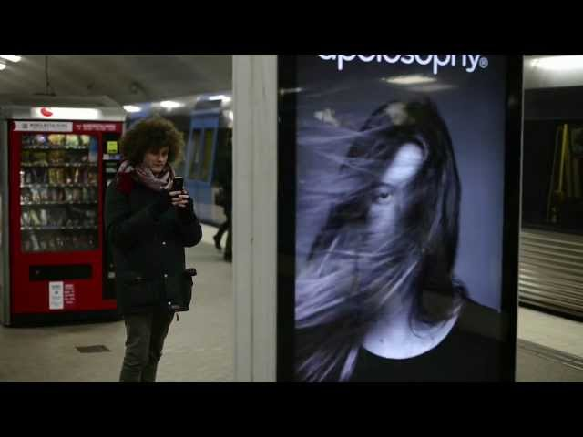So Clever... Subway Ad Shows A Woman\'s Hair Blowing Around Whenever A Train Arrives