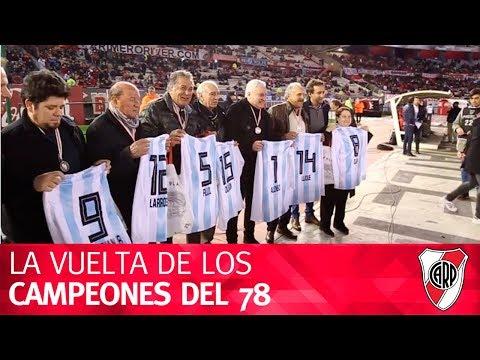 Los campeones del Mundial 78 de vuelta en el Monumental
