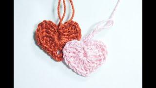 Как связать крючком маленькое сердечко