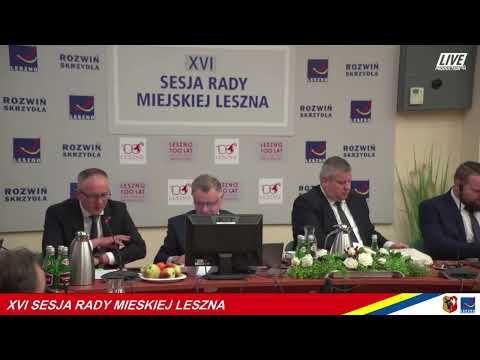 Wideo1: XVI Sesja Rady Miejskiej Leszna