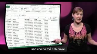 Phân tích dữ liệu với Excel