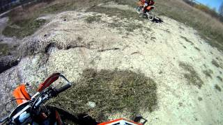 8. ktm 105sx 2004 playing on little hill at gm