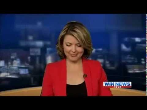 Drunk Australian TV News Anchor Blooper, WIN News Canberra's Kerryn Johnston!