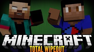 """SMART MOVING COMPETITION!"" Minecraft MODDED WIPEOUT MINIGAME! [ Smart Moving Mod ] w/NoahCraftFTW"