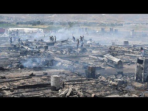 Φονική πυρκαγιά σε προσφυγικό καταυλισμό