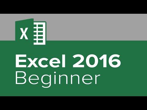 Microsoft Excel 2016 - Learn Excel 2016 Beginners Tutorial Video
