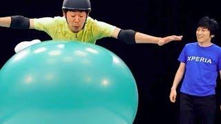 しずる出演・「巨大風船ダイブ」/おもスロ芸人選手権