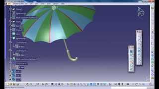 Catia V5 Tutorial|How to Design an Umbrella P5|Product Design Engineering Beginner's