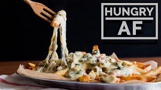 Spinach & Artichoke Cheese Fries l Hungry AF by Tastemade