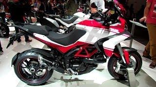 9. 2014 Ducati Multistrada 1200S Pikes Peak Walkaround - 2013 EICMA Milan Motorcycle Exhibition