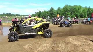 3. Can Am Maverick X3 XMR SKIMS Water Pit!!! Wheels A Churnin