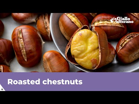 ROASTED CHESTNUTS IN THE OVEN (easy to peel!)