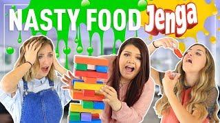 Video The JENGA FOOD Challenge ft. Karina Garcia MP3, 3GP, MP4, WEBM, AVI, FLV Juni 2018