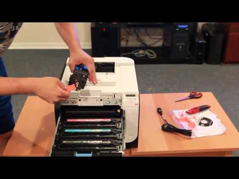 HP Pro 400 M451dn Color Laser Printer Unboxing & Setup