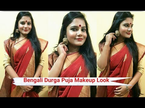 Durga Puja 2017 Makeup Look |Bengali Makeup Tutorial For Durga Puja