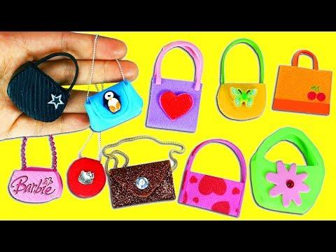 Modelos de uñas - 10 Diferentes Modelos de Carteras y Bolsos en Miniatura sin Coser  - 10 Manualidades para Muñecas