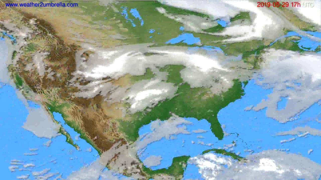 Cloud forecast USA & Canada // modelrun: 00h UTC 2019-05-28