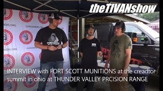 INTERVIEW with FORT SCOTT MUNITIONS at the creator summit in ohio at THUNDER VALLEY PRECISION RANGE by theTIVANshow