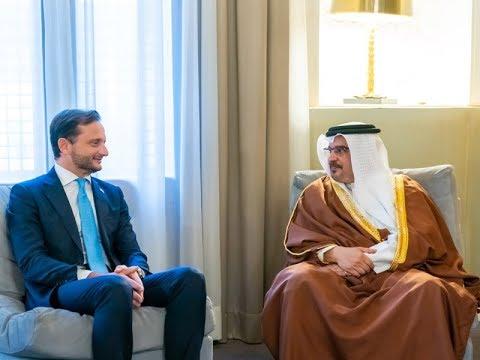 سمو ولي العهد يلتقي سفير جمهورية إيطاليا لدى مملكة البحرين