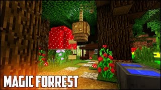 Minecraft Tutorial: How To Make A Magic Forrest House   Easy & Compact Cute Survival Hobbit Home