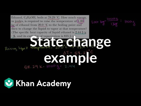 Change Of State Example Video Khan Academy