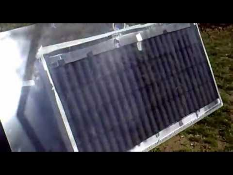 Solarni  kolektor od limenki test