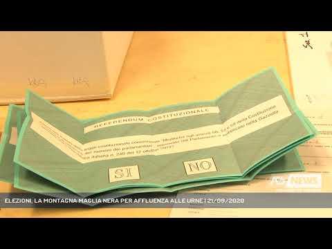ELEZIONI, LA MONTAGNA MAGLIA NERA PER AFFLUENZA ALLE URNE | 21/09/2020