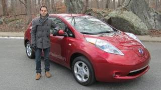 2011 Nissan LEAF Electric Car Test Drive&Car Review By RoadflyTV