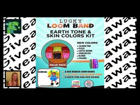 Loom Rubber Bands Kit Earth Tone And Skin Colors 3000 pcs Giveaway!