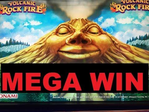 ★SUPER MEGA WIN!★☆VOLCANIC ROCK FIRE Slot (KONAMI) ☆ ($2.40 Bet) First Attempt