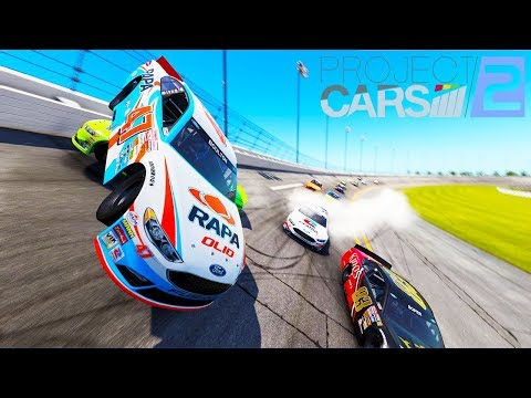 HUGE NASCAR CRASH AT DAYTONA IN VIRTUAL REALITY! - Project Cars 2 VR Gameplay and Crashes