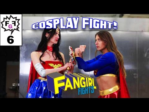 Supergirl Vs Wonder Woman - Cosplay Fight!