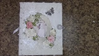 "This is a Free step by step mini album tutorial on how to make this  8 x 10"" with 3-1/2"" spine mini album using Heartfelt Creations Classic Wedding paper collection.   This tutorial is for beginners or seasoned crafters.  You 'll get an easy, down to earth learning experience from my tutorials.  This album has 12 decorated pages of detailed, fun layouts, featuring how to make  pockets, foldouts,  waterfalls, and more!.  Supplies for this tutorial can be found at my store www.jshobbiesandcrafts.com (materials list can be found here too) or my Ebay store http://stores.ebay.com/jshobbiesandcrafts/ Be sure to visit my YouTube channel for more tutorials www.youtube.com/c/shelliegeigle and also on Facebook: Search J & S Hobbies and Crafts or Designs by Shellie    You can find a free materials list for this tutorial at www.jshobbiesandcrafts.com."