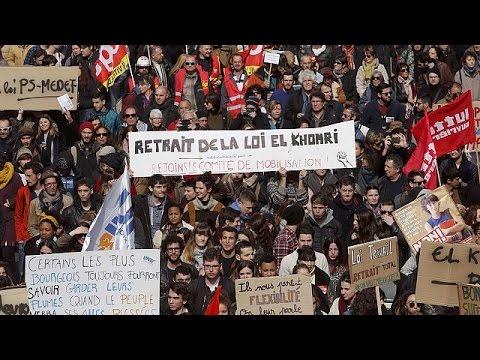 Γαλλία: Ημέρα κινητοποιήσεων κατά των μεταρρυθμίσεων στην αγορά εργασίας.