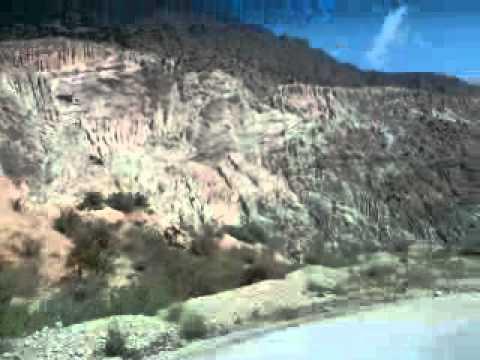 Tajikistan Fann Mountais 2012 - Iskanderkul to Dushanbe road 3 (видео)