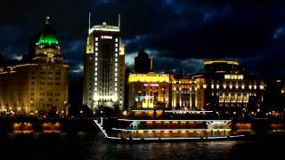 Evening river cruise through ShangHai 上海