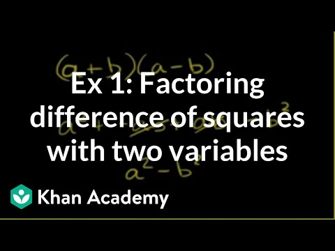 squares - Learn more: http://www.khanacademy.org/video?v=tvnOWIoeeaU u12_l2_t2_we2 Factoring difference of squares Content provided by TheNROCproject.org - (c) Montere...
