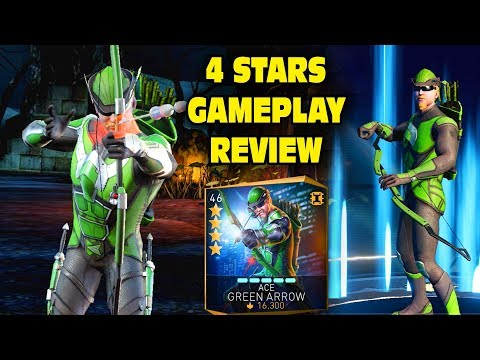 Unlocking 4-STAR Ace Green Arrow in Injustice 2 Mobile. Gameplay, Super Move, Review. IS HE GOOD?