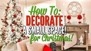 HOW TO DECORATE A SMALL SPACE FOR CHRISTMAS | CHRISTMAS CLEAN AND DECORATE WITH ME | Love Meg