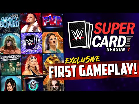 WWE SuperCard Season 7 - EXCLUSIVE FIRST GAMEPLAY!! Everything You Need to Know!
